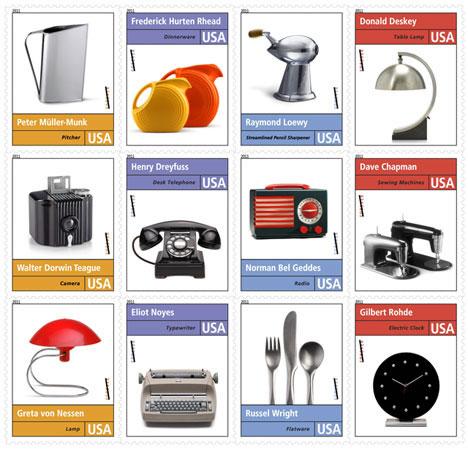 Industrial Design Postage Stamps