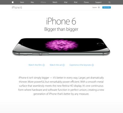 iPhone Landing Page