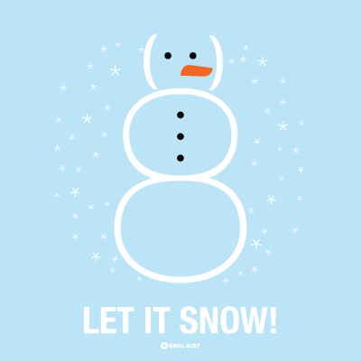 Typography Let It Snow